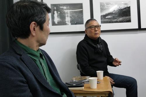 北井一夫さん(左)と加納典明さん(右)Kazuo Kitai-san (left) and Tenmei Kanoh-san (right)