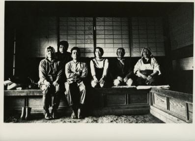 """北井一夫「三里塚」""""Sanrizuka"""" by Kazuo Kitai, Farming family in their home. 1970s."""